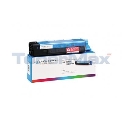 MEDIA SCIENCES TONER CYAN FOR OKI C5550MFP C6100